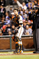 Sep 26, 2013: During the MLB game between the SF Giants and the LA Dodgers at AT&T Park in San Francisco.  Final score: Giants 3, Dodgers 2 after 9 innings.
