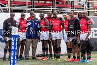 Game 34: Shield Semifinal- Kenya team thanks the crowd after bowing out against Australia 38-7.