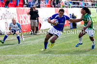 Game #40: South Africa vs Samoa CSF: Tulolo Tulolo edges by Branco du Preez to score Samoa's lone try ina 12-7 defeat to South Africa.
