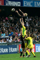 Canada's Women's team defeated Australia in the Women's final as well as in this lineout.