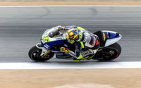 July 20, 2013: Valentino Rossi (#46) of ITA riding for Yamaha Factory Racing at speed during Saturday practice at Red Bull United States Grand Prix.