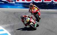 July 21, 2013: Marc Marquez (#93) of SPA riding for the Repsol Honda Team pursues Stefan Bradl (#6) of GER riding for LCR Honda MotoGP.