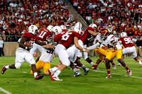 September 15-2012: during the NCAA PAC12 match between Stanford Cardinal and USC Trojans at Stanford Stadium, Palo Alto CA.