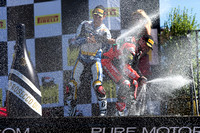 Sep 29, 2013: World SBK race #2 Winner Tom Sykes, 2nd place Davide Giugliano and 3rd place Marco Melandri at the WSBK - Monterey Round held September 27-29 at Mazda Raceway Laguna Seca CA