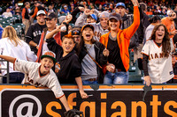Sep 26, 2013: Fans are rowdy before the MLB game between the SF Giants and the LA Dodgers at AT&T Park in San Francisco.  Final score: Giants 3, Dodgers 2 after 9 innings.