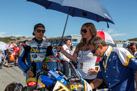 Sep 29, 2013: Chaz Davies on the grid for World SuperBike race #2 at the WSBK World Championship - Monterey Round held September 27-29 at Mazda Raceway Laguna Seca CA