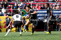 Game 39: Fiji vs New Zealand- Ben Lam of New Zealand at speed. New Zealand wins 19-14.