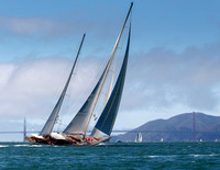 September 13, 2013: Super Yacht Racing Day on the San Francisco Bay.