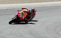 July 19, 2013: Dani Pedrosa (#26) of SPA & Marc Marquez (#93) of SPA riders for the Repsol Honda Team in tandem