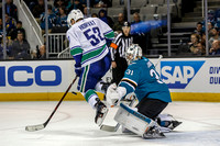 NHL: FEB 15 Canucks at Sharks