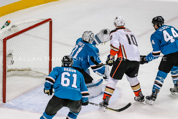 NHL: NOV 20 Ducks at Sharks